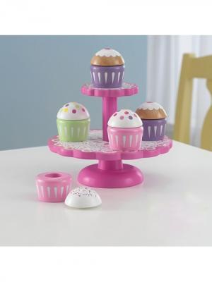 Игровой набор для детской кухни Капкейки KidKraft. Цвет: розовый