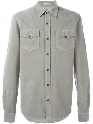 Рубашка с нагрудными карманами Tomas Maier. Цвет: серый