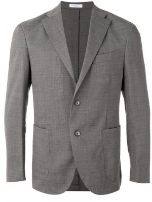 Классический пиджак Boglioli. Цвет: серый