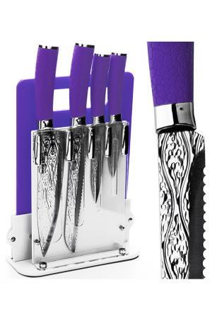 Набор ножей 4 пр. на поставке Mayer&Boch. Цвет: фиолетовый