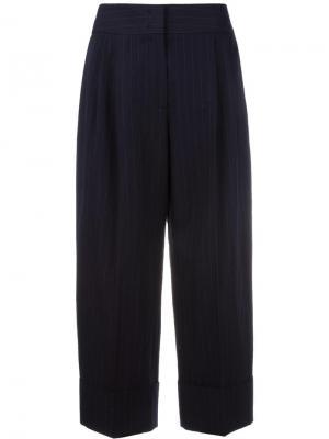 Укороченные брюки в тонкую полоску Antonio Marras. Цвет: синий
