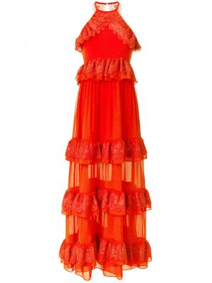 Grandeur evening dress Three Floor. Цвет: жёлтый и оранжевый