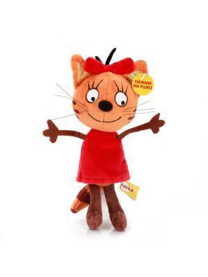 Мягкая игрушка мульти-пульти 3 кота. Карамелька 13см. Цвет: оранжевый, красный
