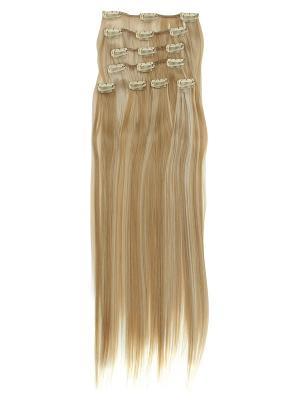 Накладные волосы, пряди на заколках-клипсах Lika VIP-PARIK. Цвет: кремовый, желтый