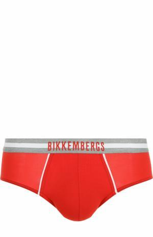 Хипсы с широкой резинкой Dirk Bikkembergs. Цвет: красный