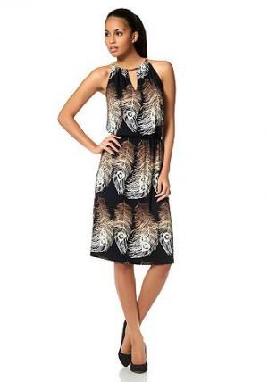 Платье с принтом Bruno Banani. Цвет: с набивным рисунком