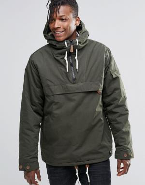 Dickies Куртка через голову. Цвет: зеленый