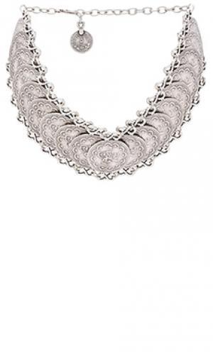 Колье-чокер cyprus Natalie B Jewelry. Цвет: металлический серебряный