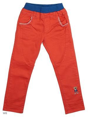 Брюки Kidly. Цвет: оранжевый, синий