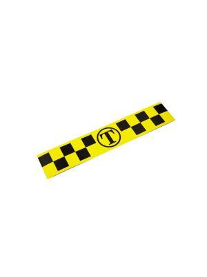 Такси-Магнит Для Притяжения Клиентов, 300Х100, Белый Оранжевый Слоник. Цвет: белый