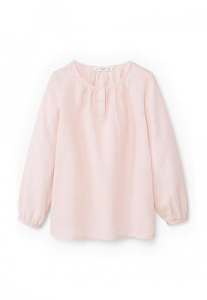Блуза Mango Kids. Цвет: розовый