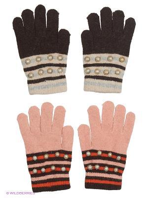 Перчатки FOMAS. Цвет: темно-коричневый, коричневый, светло-бежевый, коралловый
