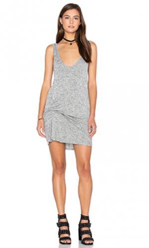 Мини платье owen Riller & Fount. Цвет: серый