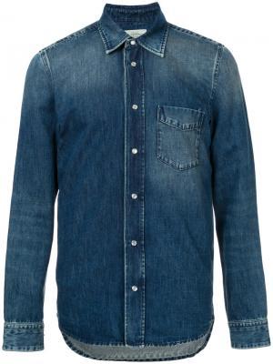 Джинсовая куртка с эффектом варенки Kent & Curwen. Цвет: синий