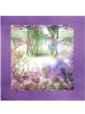 Платок Eleganzza. Цвет: синий, лиловый, светло-бежевый, светло-зеленый, сиреневый