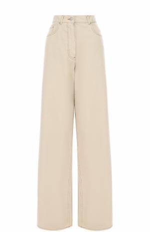 Расклешенные джинсы с завышенной талией Dries Van Noten. Цвет: кремовый