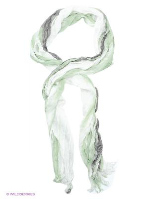 Шарф Passigatti. Цвет: белый, зеленый, темно-серый