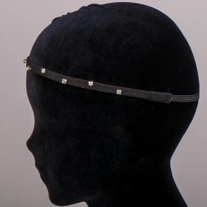 Ободок-резинка для волос, арт. 08 627 Бусики-Колечки. Цвет: черный