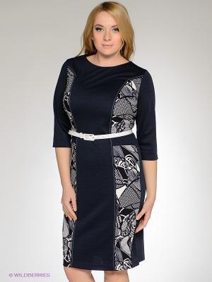 Платье Klimini. Цвет: темно-синий, молочный