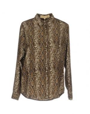 Pубашка BONSUI. Цвет: темно-коричневый