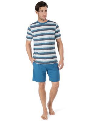 Пижама Skiny. Цвет: синий, белый