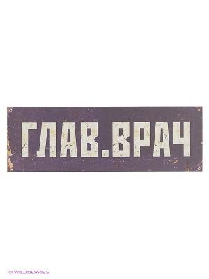Табличка на дверь ГлавВрач Kawaii Factory. Цвет: сиреневый