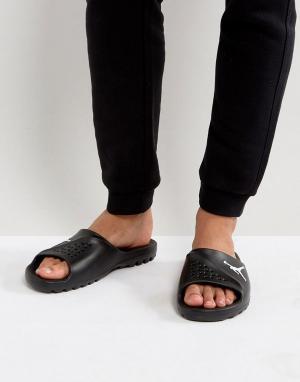 Jordan Черные шлепанцы Nike 716985-011. Цвет: черный