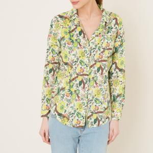 Рубашка с рисунком MAISON SCOTCH. Цвет: желтый