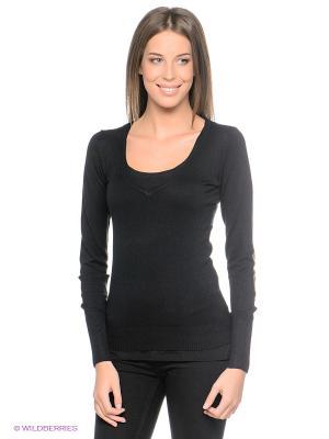Пуловер Alcott. Цвет: черный, серо-коричневый