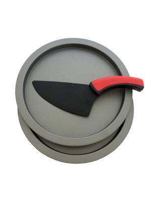 Набор для пиццы (с ножом) Gala.. Цвет: черный, красный