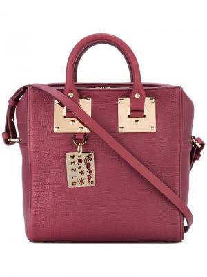 Структурированная сумка-тоут Sophie Hulme. Цвет: красный