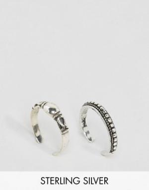 Kingsley Ryan Набор серебряных колец Cobra. Цвет: серебряный