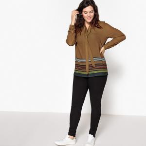 Рубашка с принтом и воротником-поло CASTALUNA. Цвет: желтый/ наб. рисунок