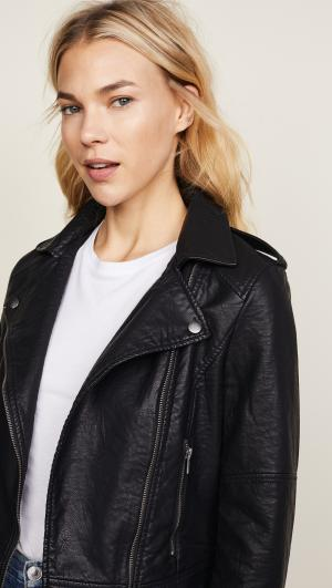 Burwell Vegan Leather Moto Jacket cupcakes and cashmere