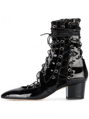 Ботинки из лакированной кожи на шнуровке Drury Lane Liudmila. Цвет: чёрный