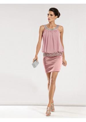 Коктейльное платье Carry Allen. Цвет: коралловый, розовый, темно-синий, черный