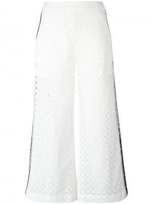 Многослойные брюки с вырезами MSGM. Цвет: белый