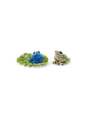 Набор Лягушки SCHLEICH. Цвет: зеленый, салатовый, синий