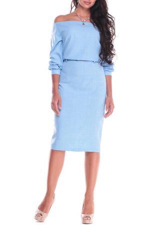 Платье Dioni. Цвет: голубой