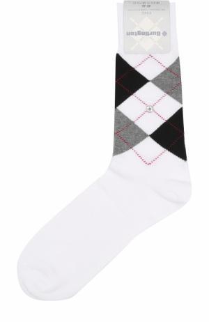 Хлопковые носки King Burlington. Цвет: белый