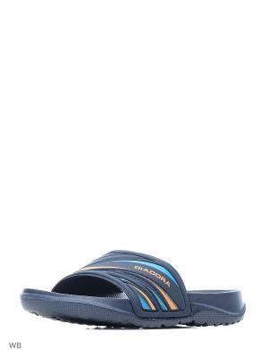Тапочки DIADORA. Цвет: синий, оранжевый