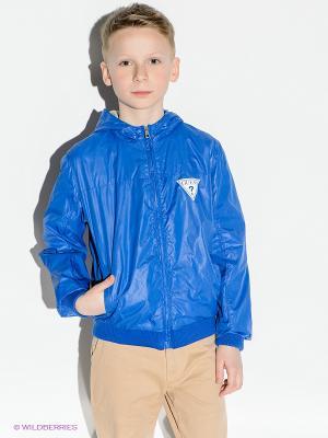 Куртка GUESS. Цвет: синий, серый меланж
