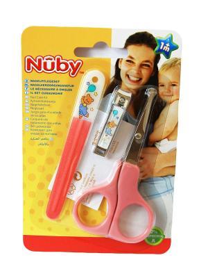 Маникюрный набор для малыша NUBY. Цвет: розовый