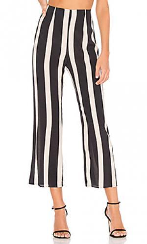 Укороченные брюки parker FLYNN SKYE. Цвет: черный