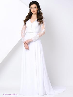 Платье свадебное X'Zotic. Цвет: белый