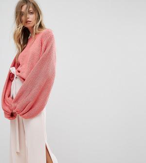 Oneon Джемпер ручной вязки. Цвет: розовый
