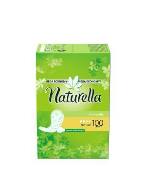Ежедневные гигиенические прокладки Сamomile на каждый день Нормал, 100 шт. NATURELLA. Цвет: салатовый