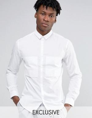 Noak Рубашка навыпуск с большим карманом. Цвет: темно-синий