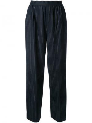 Прямые брюки в складку Astraet. Цвет: чёрный