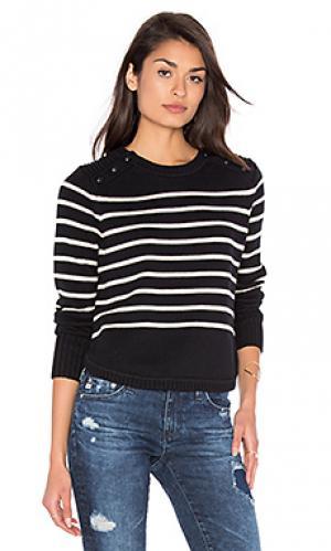 Полосатый свитер с круглым вырезом 525 america. Цвет: черный